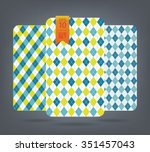 Blue And Yellow Argyle And...