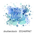 Hand Sketched Happy Holidays...