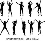 10 female dancers | Shutterstock .eps vector #3514812
