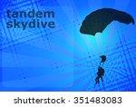 skydiving tandem silhouette on... | Shutterstock .eps vector #351483083