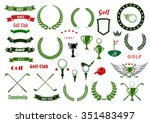 golf and golfing sport design... | Shutterstock .eps vector #351483497
