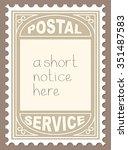 vector illustration of postal... | Shutterstock .eps vector #351487583