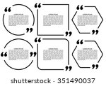 set design elements quote.... | Shutterstock .eps vector #351490037