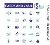 cards  cash  money  payment ... | Shutterstock .eps vector #351494477