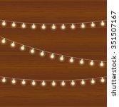 realistic lantern garland on... | Shutterstock . vector #351507167