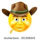 Cartoon Emoji Emoticon Cowboy...
