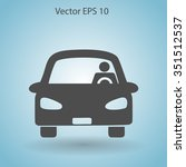 driver vector icon | Shutterstock .eps vector #351512537