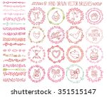 valentine day love hand drawn... | Shutterstock .eps vector #351515147
