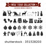 hand drawn textured new year... | Shutterstock .eps vector #351528203