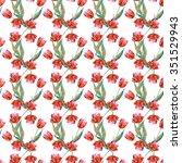 tulips seamless pattern | Shutterstock . vector #351529943