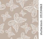 beautiful wedding seamless...   Shutterstock .eps vector #351534863