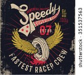 Grunge Effected Racer Print...