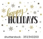 happy holidays postcard... | Shutterstock .eps vector #351543203