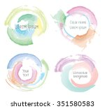 watercolor style splashes and... | Shutterstock .eps vector #351580583