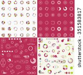 big set of different charts and ... | Shutterstock .eps vector #351583817