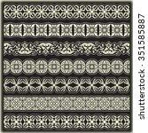 vintage border set for design  | Shutterstock .eps vector #351585887