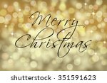 Merry Christmas Text Card With...