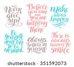 vector set of calligraphic text ... | Shutterstock .eps vector #351592073