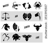 vector illustration of zodiac... | Shutterstock .eps vector #351593507