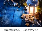 christmas background with... | Shutterstock . vector #351599927