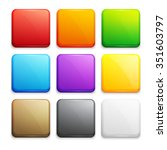 set of colorful buttons | Shutterstock . vector #351603797