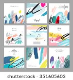 set of artistic creative... | Shutterstock .eps vector #351605603