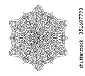 abstract mandala zentangle | Shutterstock .eps vector #351607793