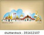 vector landmark of thailand  | Shutterstock .eps vector #351612107