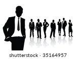 people in business | Shutterstock .eps vector #35164957
