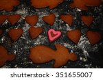 Gingerbread Hearts And Woman O...