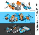 industrial robot horizontal...   Shutterstock .eps vector #351658157