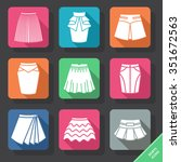 set with skirts icons. vector... | Shutterstock .eps vector #351672563