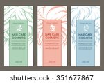 vector set of templates color... | Shutterstock .eps vector #351677867