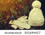 fashion set of classic winter... | Shutterstock . vector #351694427