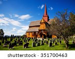 Old Wooden Small Church In War...