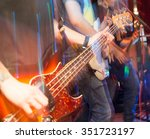 aggressive play guitar on stage | Shutterstock . vector #351723197