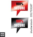 100  secure speech bubbles... | Shutterstock .eps vector #351733187
