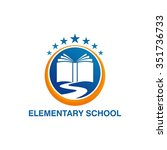 elementary education logo... | Shutterstock .eps vector #351736733