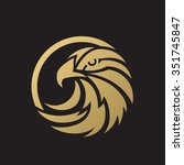 luxury eagle logo | Shutterstock .eps vector #351745847