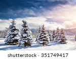 Winter Mountain Scenery Of Pin...