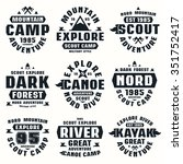 camping and tourism badges.... | Shutterstock .eps vector #351752417