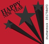 party card happy new year... | Shutterstock .eps vector #351758693