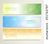 set of abstract banner design... | Shutterstock .eps vector #351763787