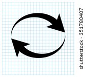 reload   black vector icon | Shutterstock .eps vector #351780407