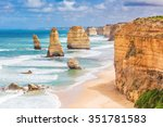 Small photo of Twelve Apostles rock formations, Great Ocean Road, Victoria, Australia