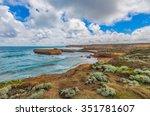 beautiful coastline with rocky...
