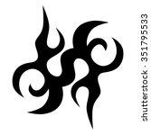 tattoo tribal vector designs.... | Shutterstock .eps vector #351795533