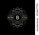geometric monogram logo....