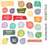 sale labels collection | Shutterstock .eps vector #351857513