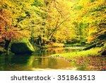 vivid colors of mountain river. ... | Shutterstock . vector #351863513